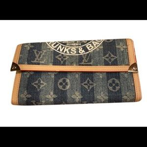 Louis Vuitton Limited Edition Denim Wallet